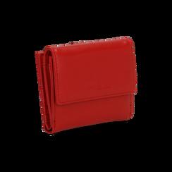 Portafoglio compatto rosso in ecopelle con 6 vani, Borse, 122200895EPROSSUNI, 003 preview