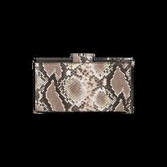 Portefeuille blanc/noir imprimé python, Primadonna, 165122158PTBINEUNI, 004 preview