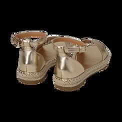 Sandali oro laminato, Scarpe, 154913061LMOROG, 004 preview