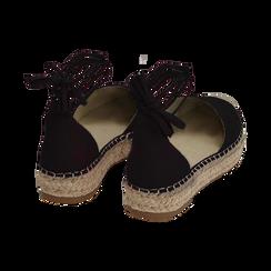 Espadrillas lace-up nere in microfibra, Primadonna, 154930501MFNERO035, 004 preview