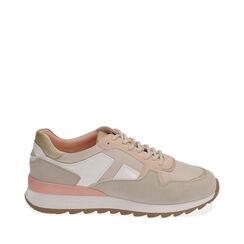 Sneakers beige in tessuto tecnico, Primadonna, 170200002TSBEIG035, 001a