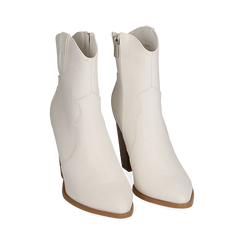 Camperos bianchi, tacco 9 cm, Primadonna, 154930037EPBIAN040, 002a