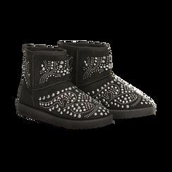 Scarponcini invernali neri con mini borchie, Primadonna, 12A880115MFNERO, 002 preview