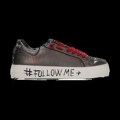 Sneakers canna di fucile con suola #followme, Scarpe, 122619062EPCANN, 001 preview