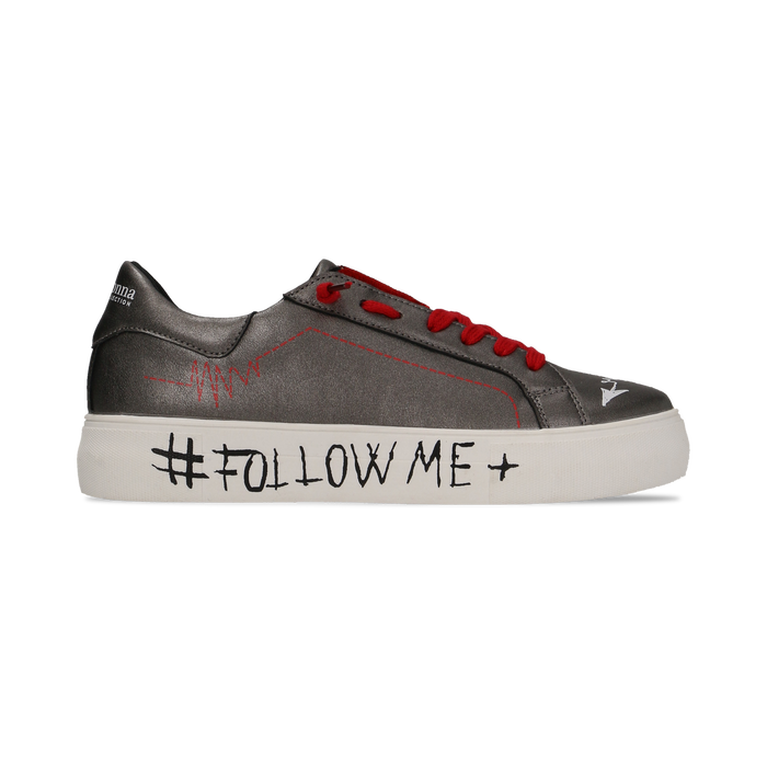 Sneakers canna di fucile con suola #followme, Scarpe, 122619062EPCANN