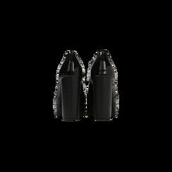 Francesine stringate vernice nere, tacco alto e plateau, Primadonna, 128403196VENERO, 003 preview