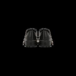 Francesine stringate nera con mini-borchie  , Scarpe, 120691312EPNERO, 003 preview