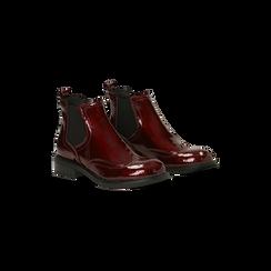 Chelsea Boots bordeaux vernice, lavorazione Duilio, Scarpe, 120618206VEBORD, 002 preview