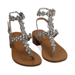 WOMEN SHOES SANDAL LAMINATED ARGE, Chaussures, 154989170LMARGE035, 002a