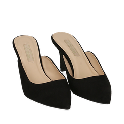 CALZATURA SABOT MICROFIBRA NERO, Zapatos, 152133675MFNERO036, 002a