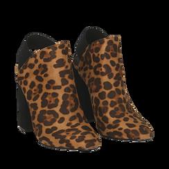 Mules leopard in microfibra, tacco 11 cm , Scarpe, 142186941MFLEOP035, 002a