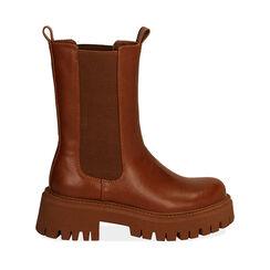 Chelsea boots cognac, talon 5,5 cm , Primadonna, 180614805EPCOGN035, 001a