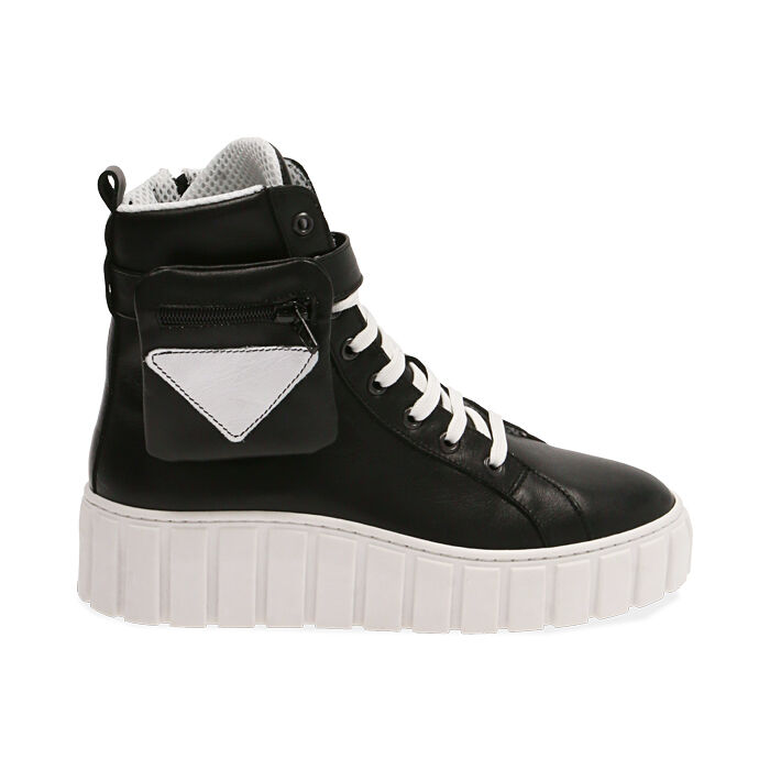Sneakers nere in pelle, Primadonna, 17L645608PENERO035