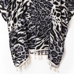 Poncho leopard in tessuto , Abbigliamento, 13B445069TSLEOPUNI, 002a