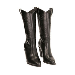 Camperos neri, tacco 9,5 cm , Primadonna, 172139023EPNERO036, 002a