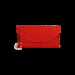 Pochette rossa in microfibra , Borse, 165122502MFROSSUNI, 001 preview