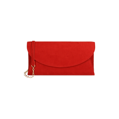 Pochette rojo en microfibra, Bolsos, 165122502MFROSSUNI, 001 preview