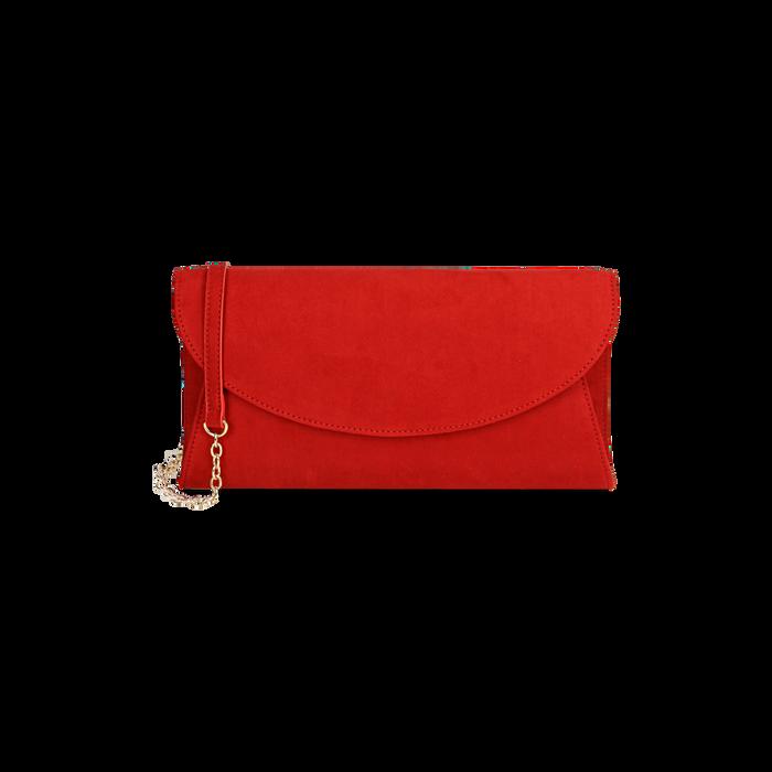 Pochette rossa in microfibra , Borse, 165122502MFROSSUNI