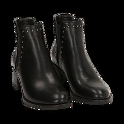 Botines Chelsea en color negro, tacón 5 cm , Primadonna, 160621232EPNERO035, 002a