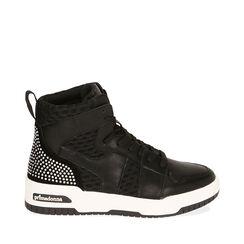 Sneakers nere, zeppa 4 cm , Primadonna, 182818126EPNERO035, 001a