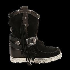 CALZATURA TRONCHETTI CAMOSCIO NERO, Chaussures, 15A220102CMNERO036, 001 preview