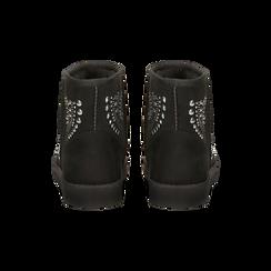Scarponcini invernali neri con mini borchie, Scarpe, 12A880115MFNERO, 003 preview