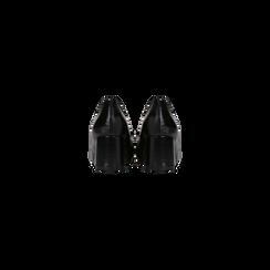 Mocassini décolleté neri con frange, tacco 5,5 cm, Scarpe, 122186581LMNERO, 003 preview