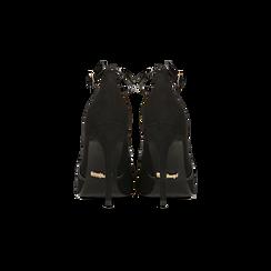 Décolleté nere sagomate con cinturino, tacco 10,5 cm, Primadonna, 122186724MFNERO038, 003 preview