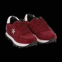 Sneakers bordeaux in microfibra, Scarpe, 140600201MFBORD036, 002 preview