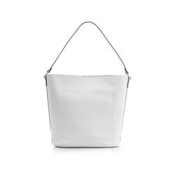 Borsa a secchiello bianca in eco-pelle, Borse, 133783136EPBIANUNI, 003 preview