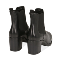 Ankle boots neri in pelle di vitello, tacco 6,50 cm , Primadonna, 16D808226VINERO035, 004 preview