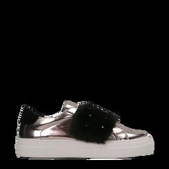 Sneakers canna di fucile Slip-on con dettagli faux-fur e borchie, Primadonna, 126103025SPCANN035, 001a