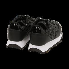 Sneakers nere con paillettes, Primadonna, 162619079PLNERO035, 004 preview