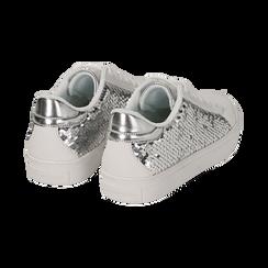 Sneakers con paillettes argento , Scarpe, 152602021PLARGE036, 004 preview