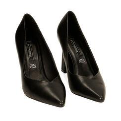 Escarpins noirs, talon 9,5 cm , Primadonna, 182149602EPNERO036, 002a