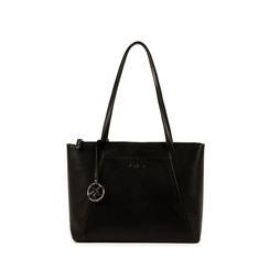 Maxi-bag nera in eco-pelle, Primadonna, 155768941EPNEROUNI, 001a