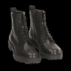 Botas militares de piel en color negro, Primadonna, 157710831PENERO035, 002a