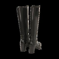 Stivali neri in pelle, tacco 7,50 cm, Primadonna, 167738002PENERO036, 003 preview