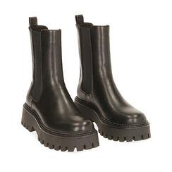 Chelsea boots noires, talon 5,5 cm , Primadonna, 180614805EPNERO035, 002a