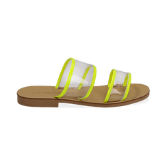 Mules flat gialle in vernice fluo con effetto see through, Primadonna, 136767001VEGIAL036, 001 preview