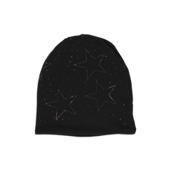 Cappello nero in tessuto con stelle, Abbigliamento, 14B406052TSNEROUNI, 001 preview