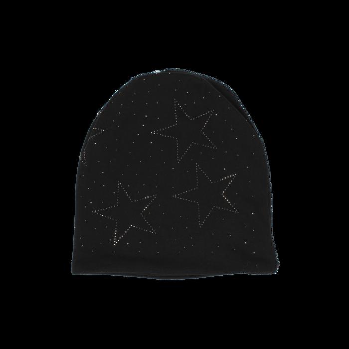 Cappello nero in tessuto con stelle, Abbigliamento, 14B406052TSNEROUNI