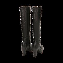 Stivali neri, tacco 9,50 cm , Primadonna, 160619077EPNERO035, 003 preview