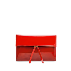 Pochette bustina rossa in ecopelle vernice, Primadonna, 123308136VEROSSUNI, 001a