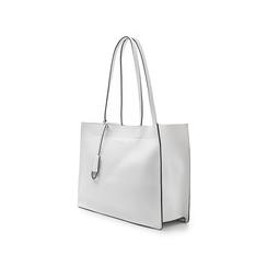 Borsa grande bianca in eco-pelle con design squadrato, Borse, 133763722EPBIANUNI, 004 preview
