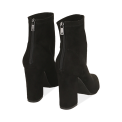 Ankle boots neri in microfibra, tacco 9 cm , Primadonna, 164823107MFNERO035, 004 preview