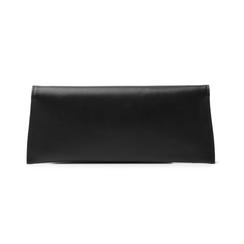Pochette piatta nera in eco-pelle, Borse, 145122509EPNEROUNI, 003 preview
