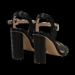 Sandali neri in eco-pelle, tacco 10 cm , Primadonna, 132708374EPNERO035, 004 preview