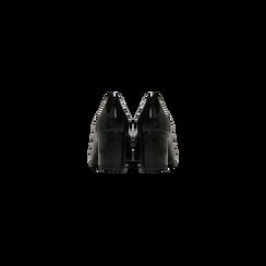 Mocassini décolleté neri in vernice, tacco 6 cm, Scarpe, 122166912VENERO, 003 preview