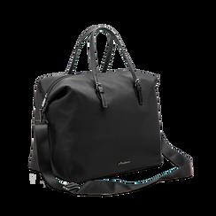 Borsa Maxi-Bag a mano nera in tessuto, Primadonna, 122300313TSNEROUNI, 003 preview